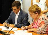 Subsecretaria Edith Moraes y Director de OPP