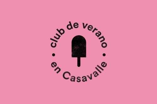 Paleta de helado con la frase Club de verano en Casavalle