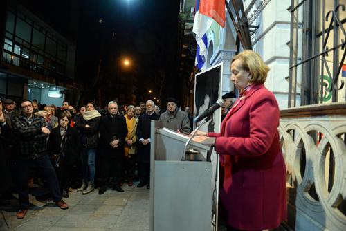 Ministra Muñoz durante la oratoria