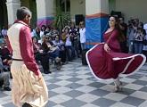Baile de Folclore durante apertura Usina