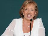 Ministra María Julia Muñoz haciendo uso de la palabra