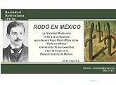 """Conferencia """"Rodó en México"""" de Hugo Manini Ríos"""