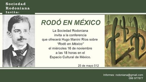 Invitación Conferencia de Hugo Manini Ríos