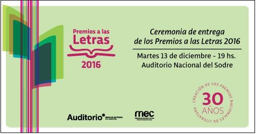 Premios a las Letras 2016