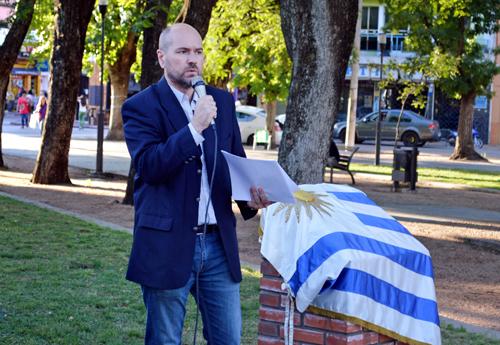 Nicolás Pons haciendo uso de la palabra